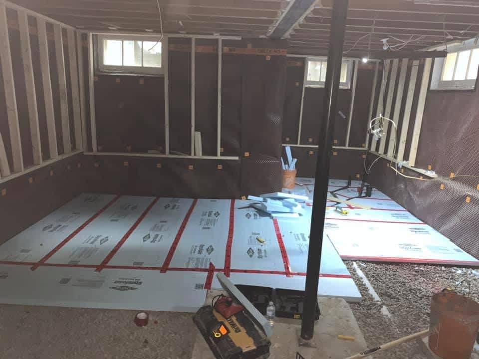 Concrete floor installation Tornado Plumbing Company ptoto picture