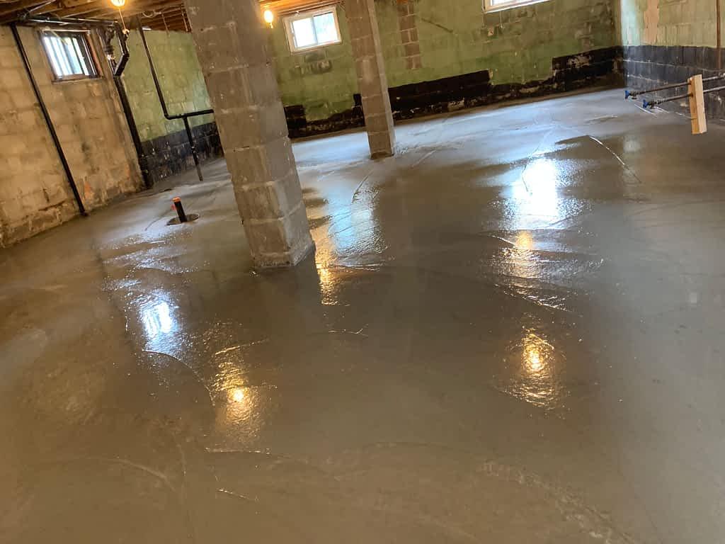 concrete floor installation