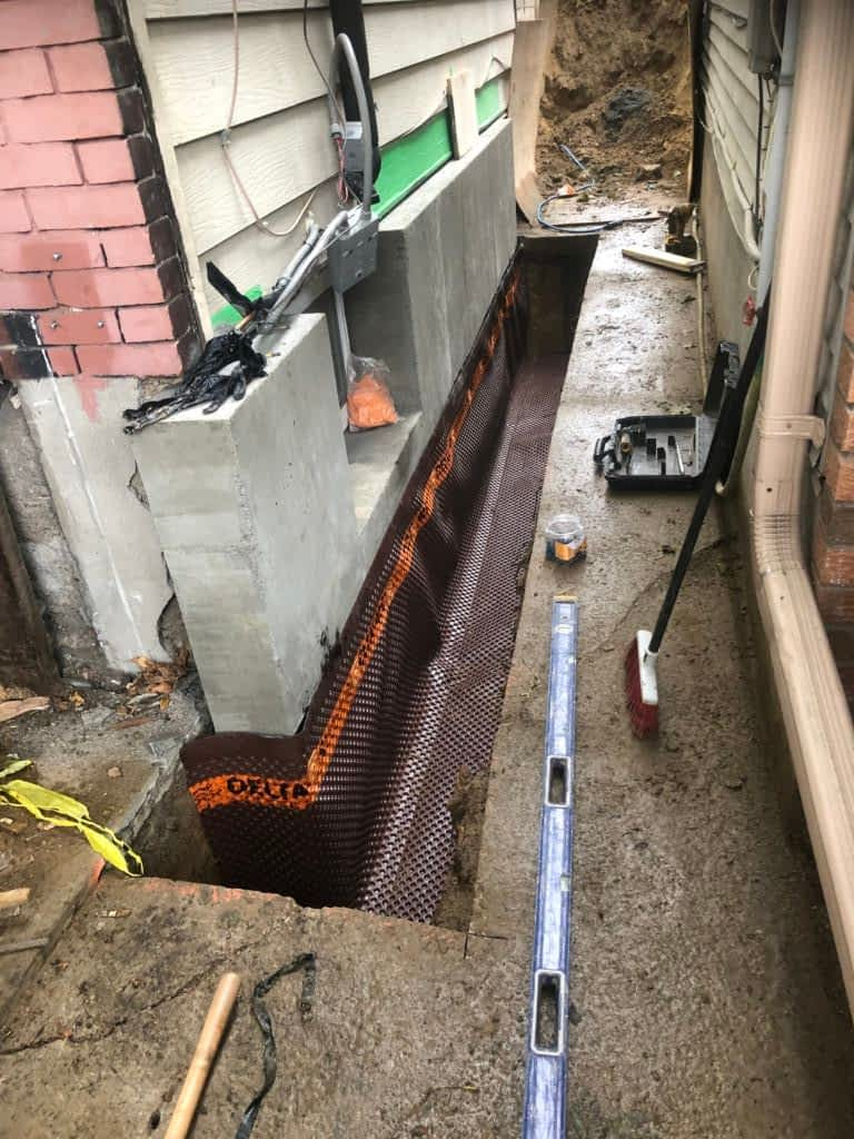 Basement Outside Exterior Basement Waterproofing In Toronto Gta
